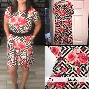 LuLaRoe Dresses - Lularoe unicorn print HTF Jessie dress